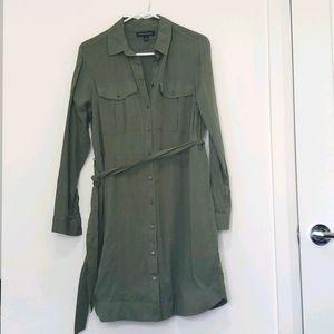 Banana Republic - Olive Green Shirt Dress w/ Tie